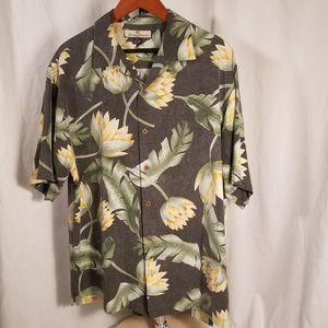 Tommy Bahama Men's Button Down Shirt Size Med Silk